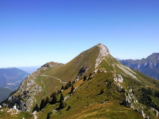 Le Mont Colombier vu depuis les rochers de la Bade