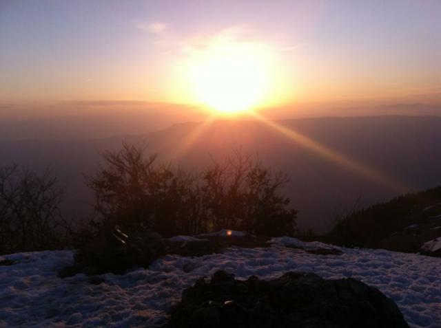coucher de soleil au Sire